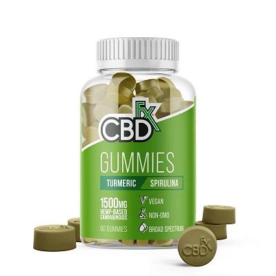 CBD Oil for Pain UK - CBDfx CBD Gummies Turmeric & Spirulina 300mg Review